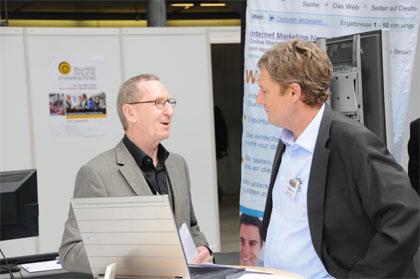 Gespräche an Onlinemarketing Messe