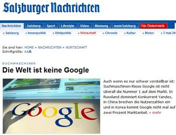 Wo Google nicht führt
