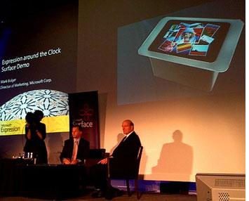 Steve Ballmer bei Microsoft Surface Demo