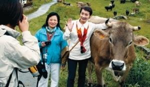 Chinesische Touristen in der Schweiz