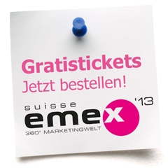 Gratis-Tickets SuisseEMEX 2013