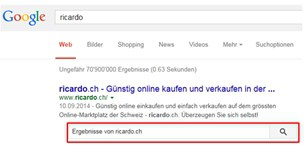 Google-Sitelinks-Suchfeld