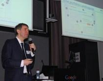 Worldsites-Geschäftsführer Beat Z'graggen beim Google-Event in Zürich.
