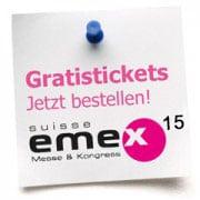 Gratis-Tickets für die SuisseEMEX 15