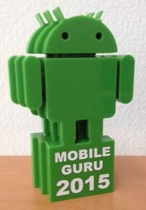 Trophäe zum Google Mobile Guru
