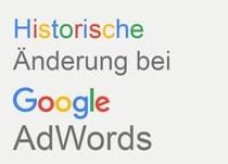 Historische Google-Änderung
