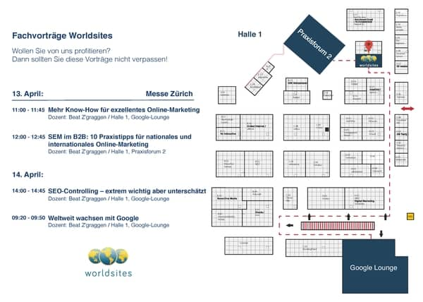 Worldsites-Übersicht bei der Swiss Online Marketing Messe 2016