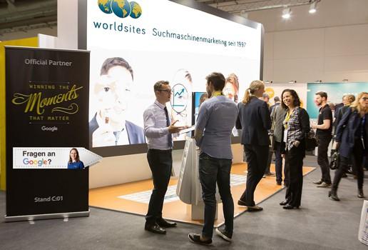 Worldsites-Messestand an der Swiss Online Marketing 2016