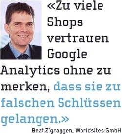 Analytics-Experte Beat Z'graggen nannte im M&K Tipps und Tricks zur Optimierung von Webshops.