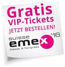Gratis-VIP-Ticket zur SuisseEMEX
